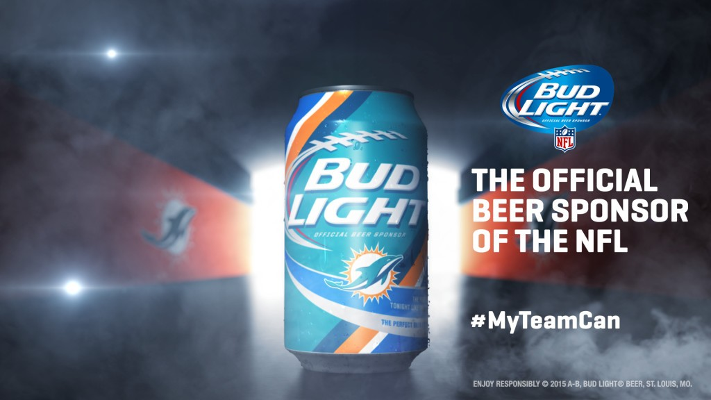Miami Dolphins Bud Light Can