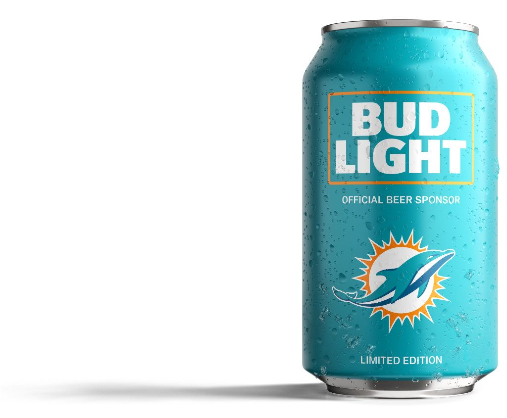 Bud Light Dolphins Can